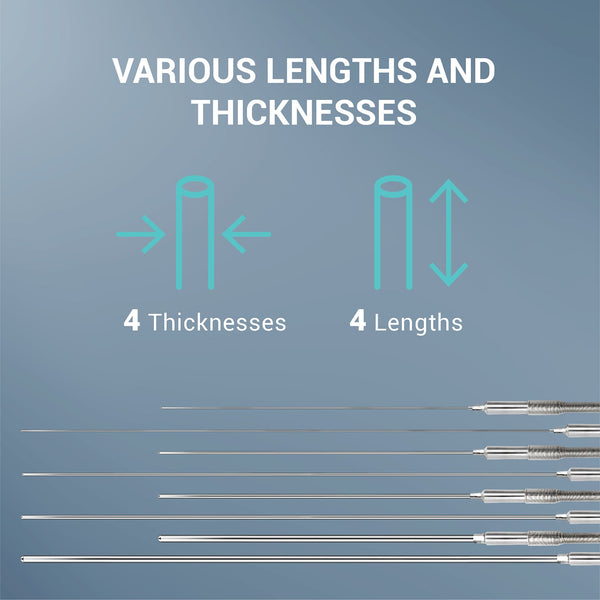 various lengths and thicknesses