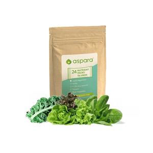 Nutrient packs for leafy vegetables