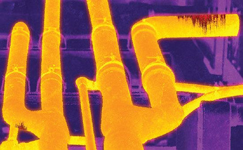 Thermal image of tubes