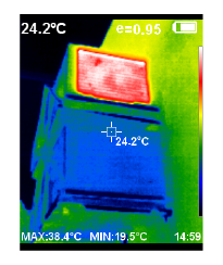 thermal image of air conditioning