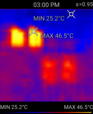 Thermal Image of industrial