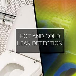 Visible and thermal view of Hot and cold leak detection