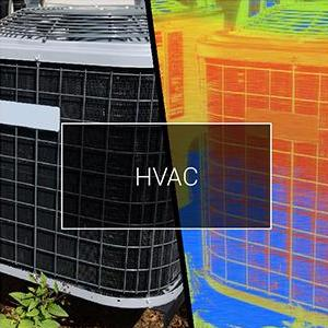 Visible and thermal view of HVAC