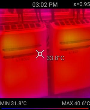 Thermal image of electricons
