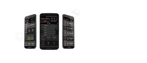 3 mobile phone screens shown details