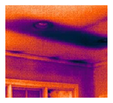 thermal image of air insulation