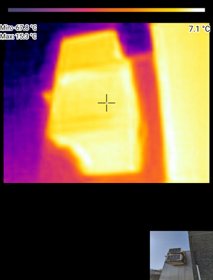 air conditioner under thermal camera