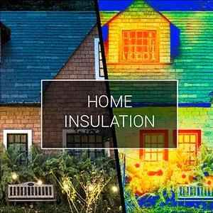 Visible and thermal view of home insulation