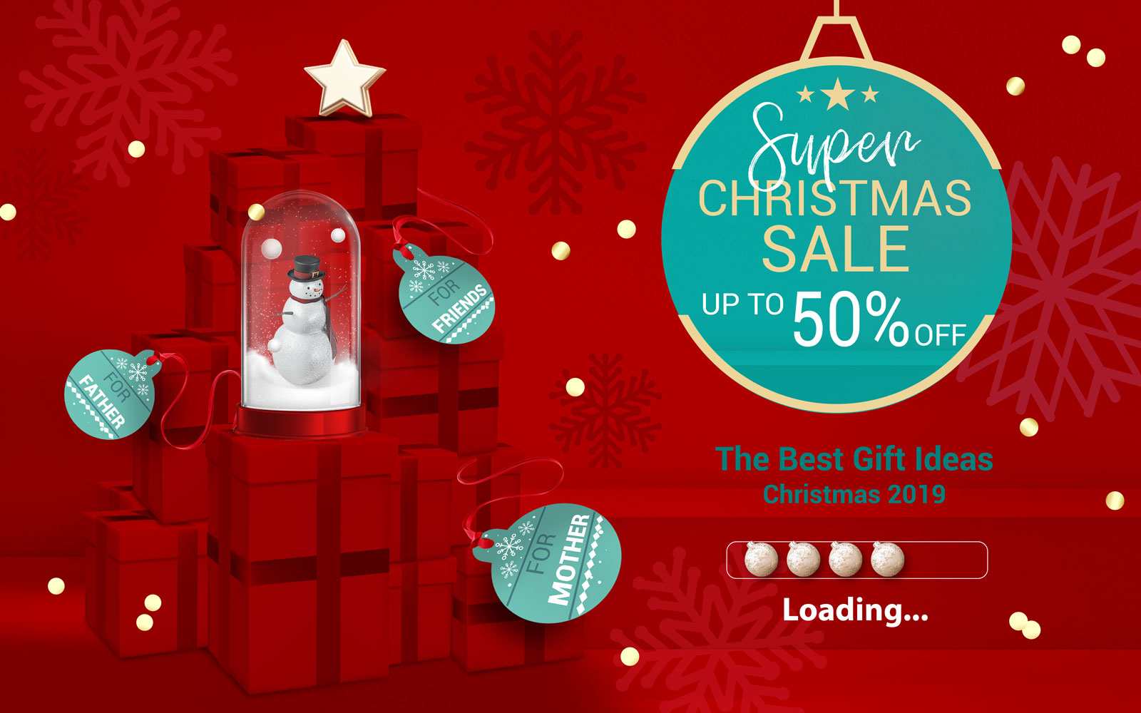 PerfectPrime Christmas banner with up to 50% off products
