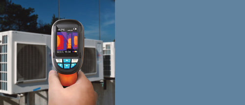 IR0002 thermal camera detecting hvac