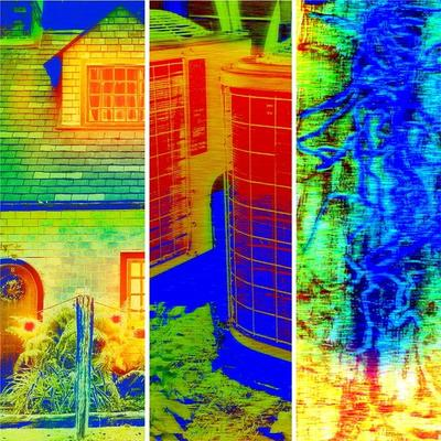 Thermal vision of home insulation, HVAC system and Termites
