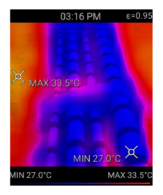 thermal image of pipe