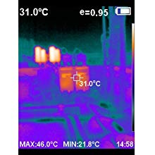 infrared vision of equipment outside