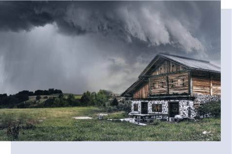 A big storm is coming to a house
