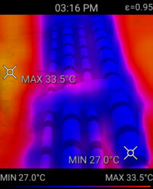 Thermal image of pipes