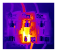 thermal image of electrical wiring