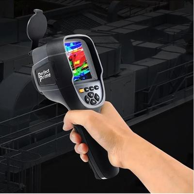 Hand holding PerfectPrime IR0019 thermal camera