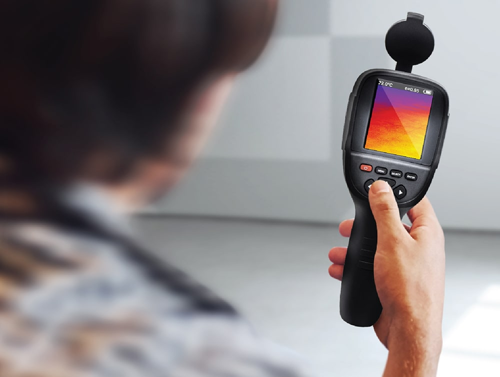 thermal camera being used for inspection