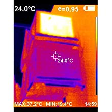Thermal image of HVAC units