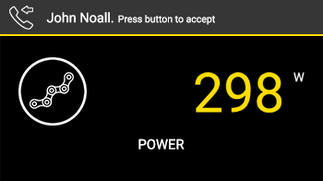 Power shown on screen