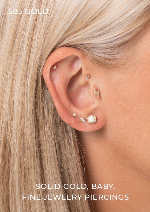 14K SOLID GOLD PIERCINGS