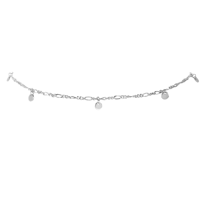 Delicate Coin Choker Silber - Default Title