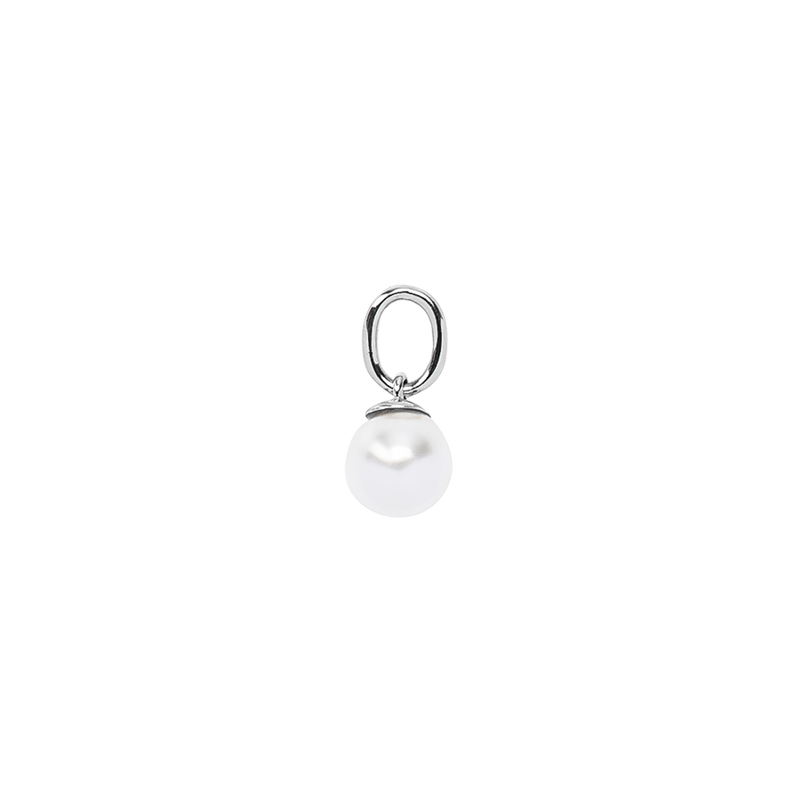 Pearl Necklace Charm Silver