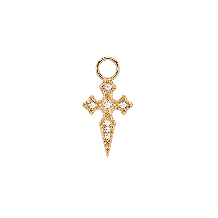 Cross Zirconia Charm