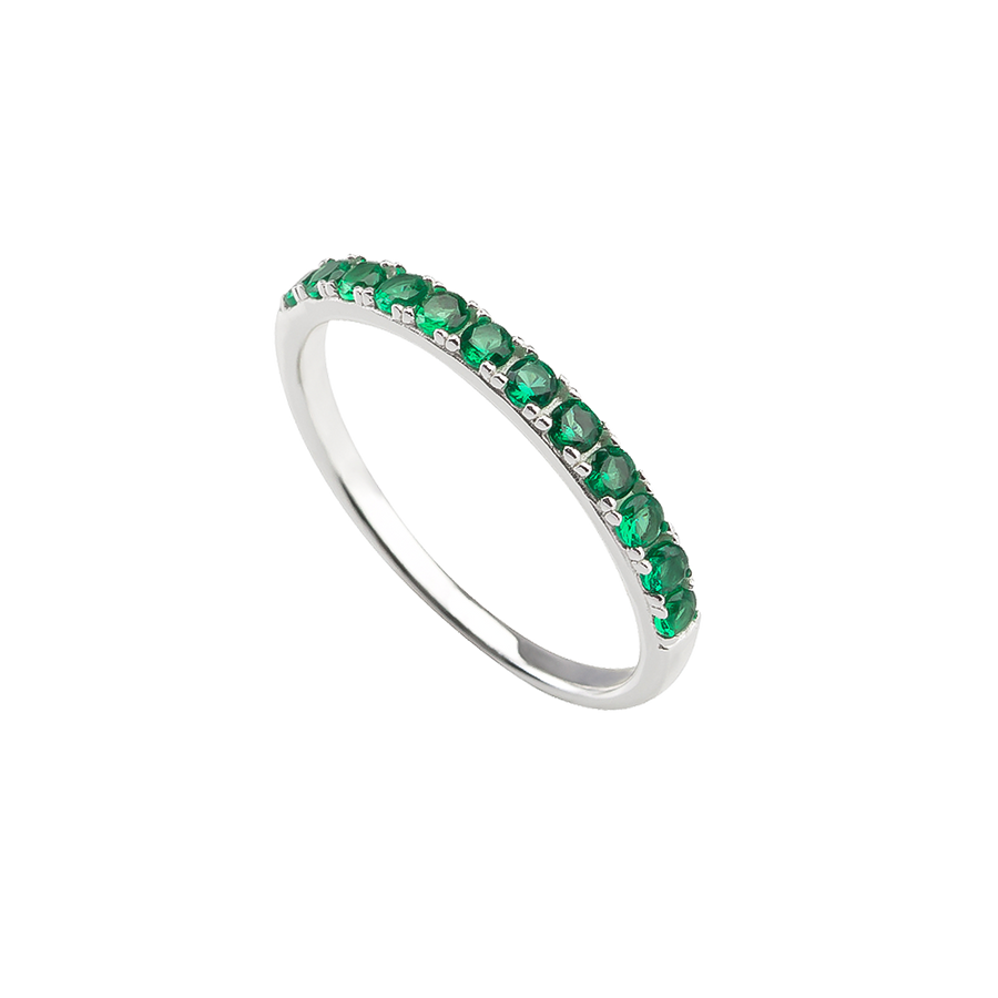 Élodie Ring Green Silver