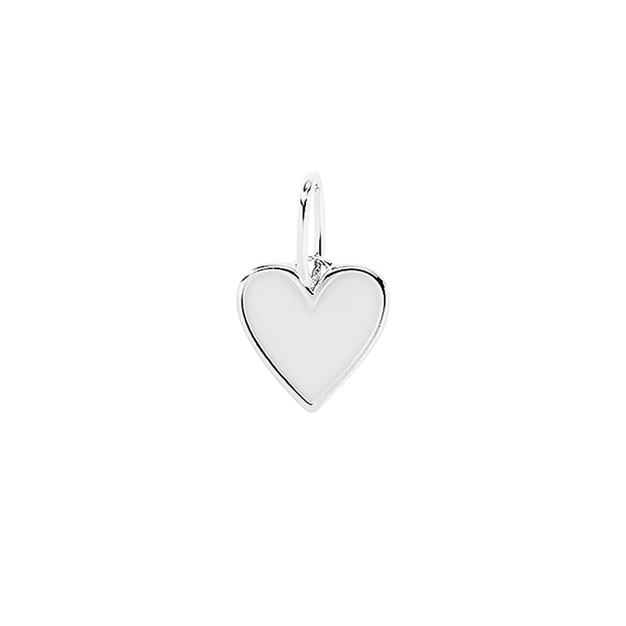 Frozen Heart Necklace Charm Silver