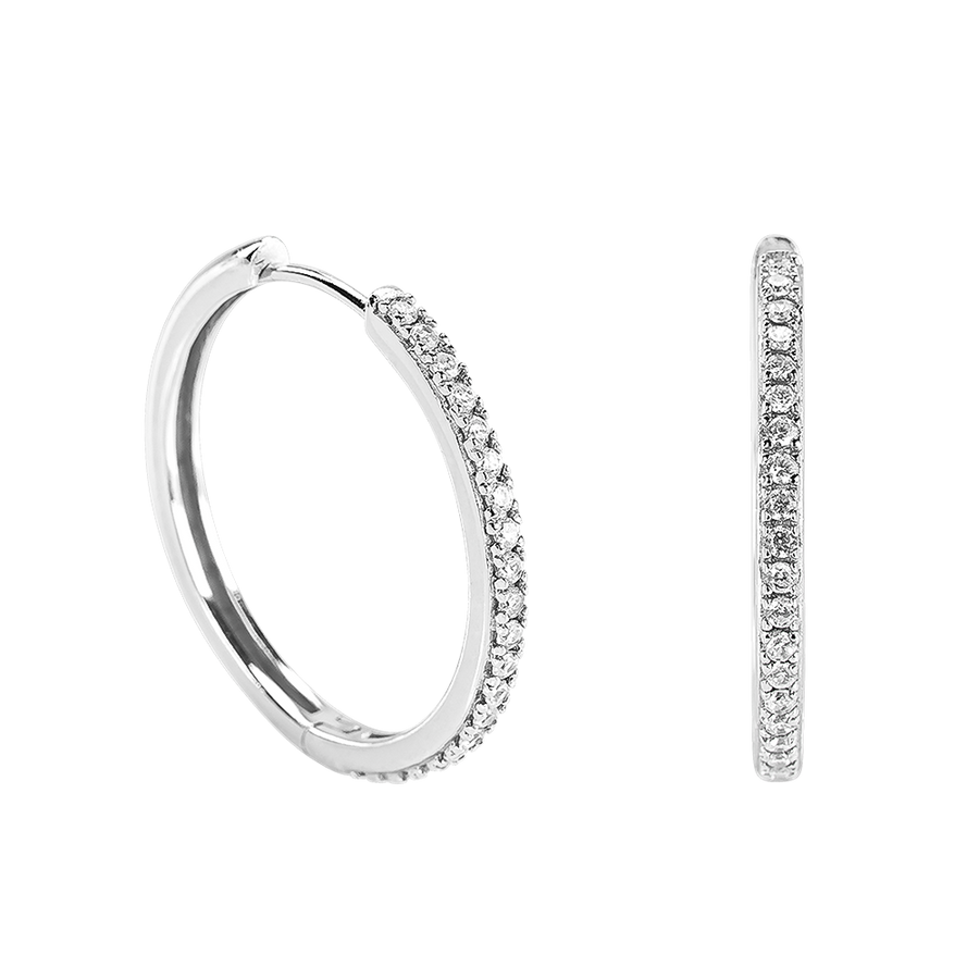 Crystal Hoops Silver - coming back soon