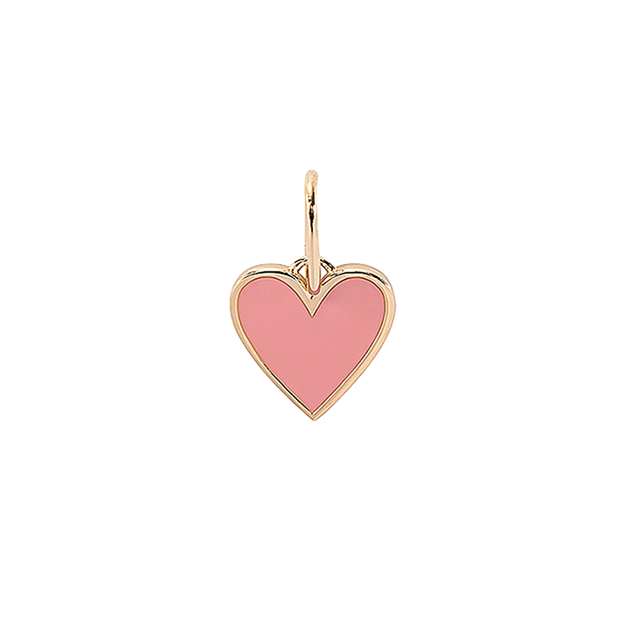 Frozen Heart Necklace Charm Pink