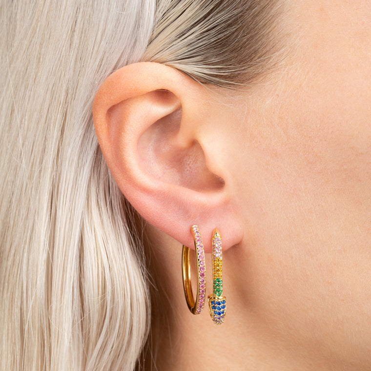 Better Safe Than Sorry Earrings Rainbow