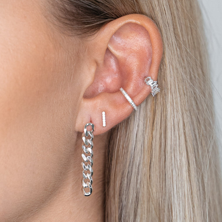Chunky Earrings Silver