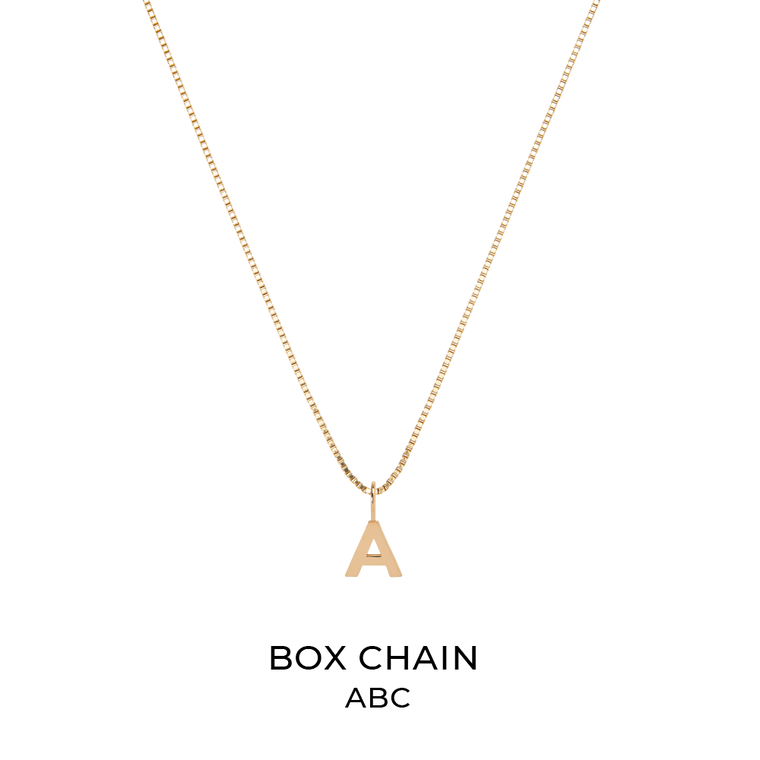 Box Chain + Alphabet Charm