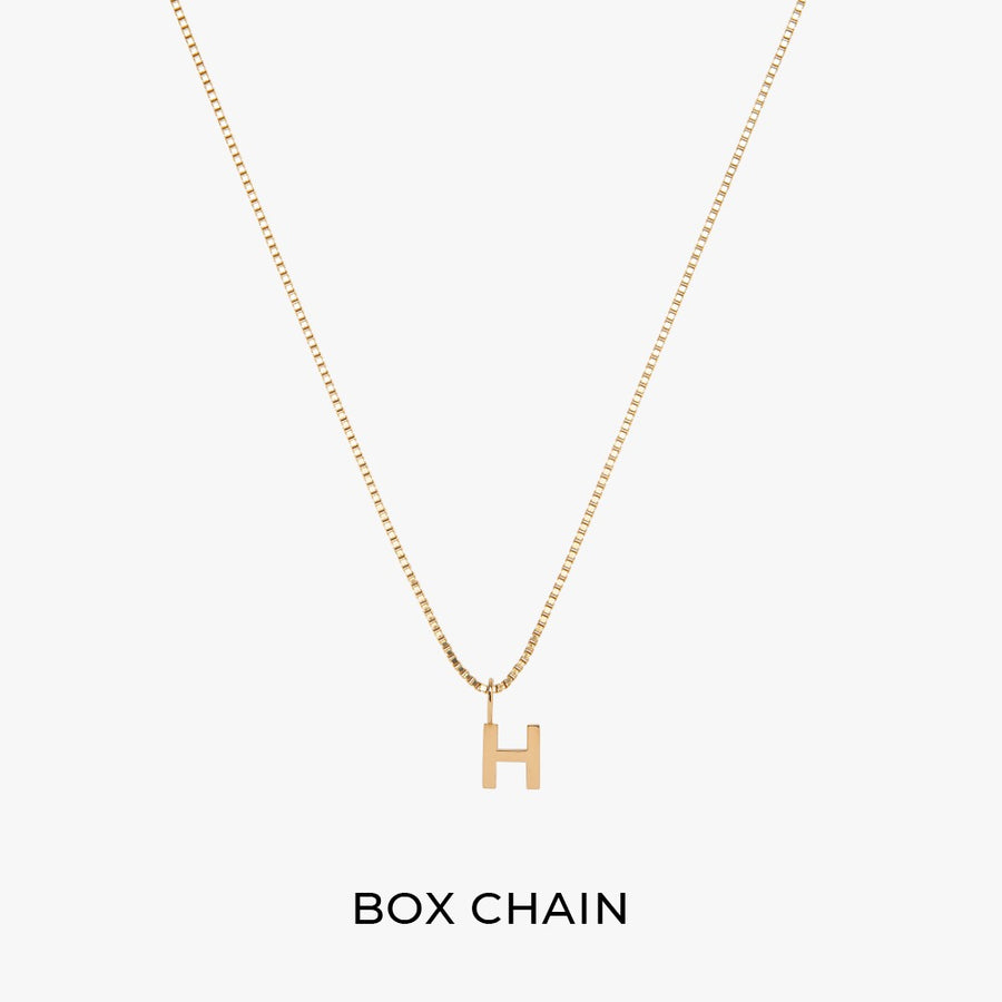 Box Chain + Alphabet Charm - preorder now (End of November)