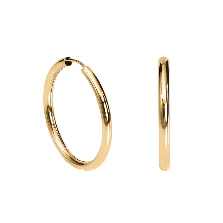 Large Hollow Hoops Gold