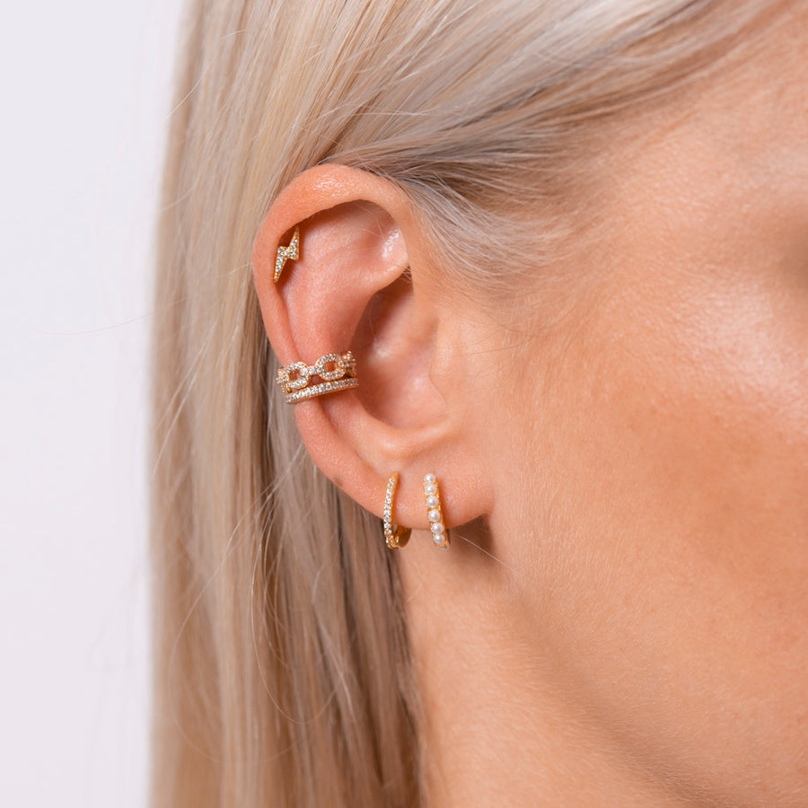 Lightning Earrings Silver - preorder now (mid August)