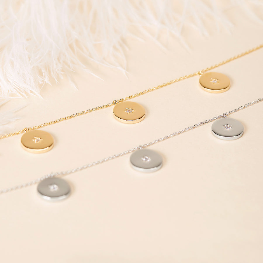Crystal Coin Necklace