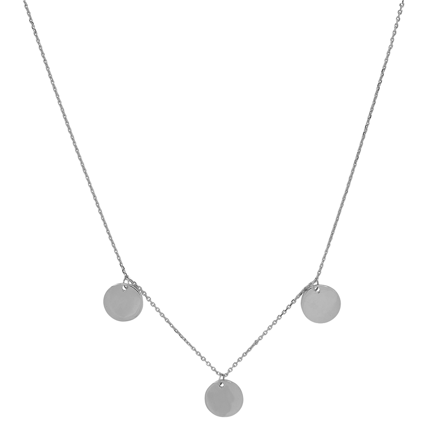 Multi Coin Necklace Silver