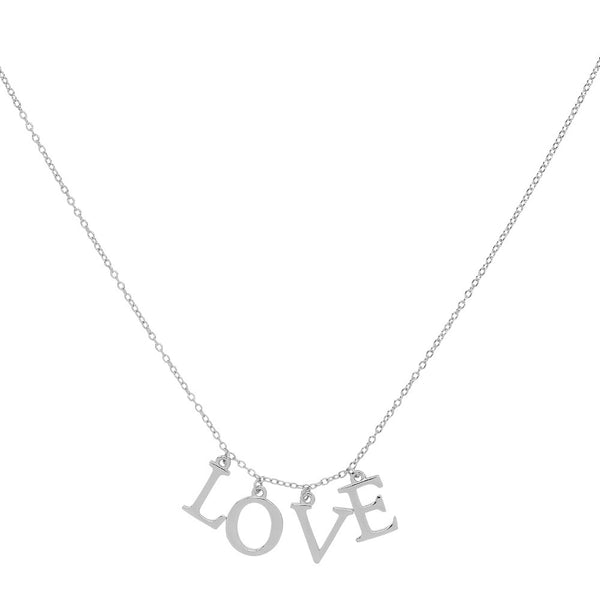 Love Letter Necklace Silver