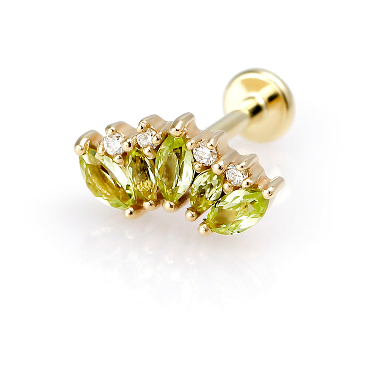 Green Bouquet Topaz Piercing