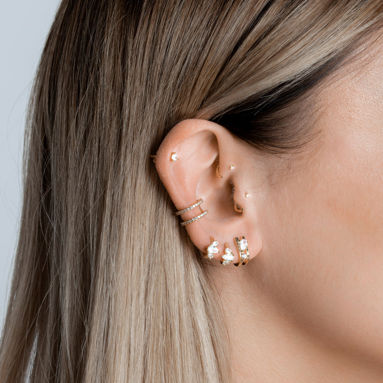 Petite Studs White Piercing - preorder now (mid May)