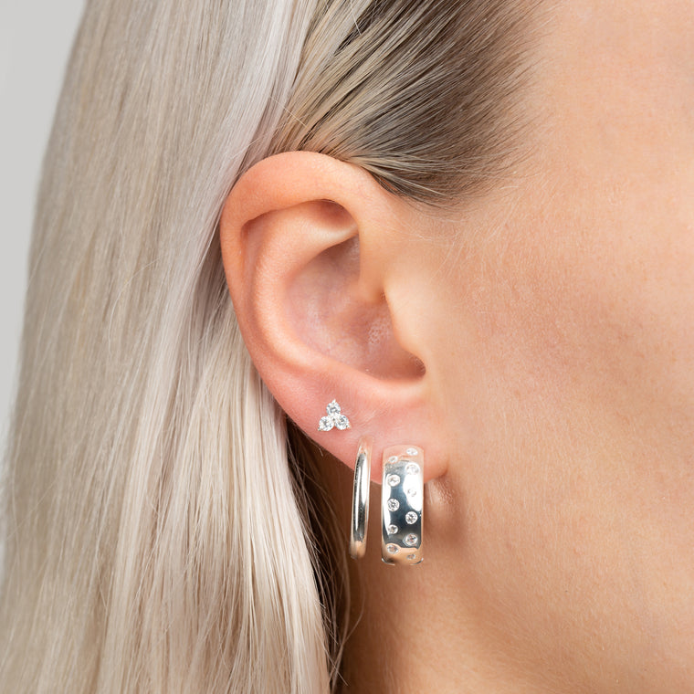 Trinity Earrings Silver - preorder now (early September)