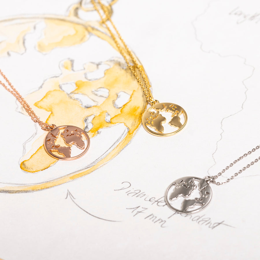 World Necklace Rosé Gold