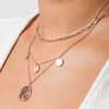 Multi Coin Necklace Rose Gold