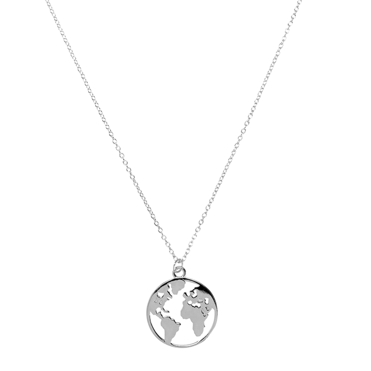 World Necklace Silver
