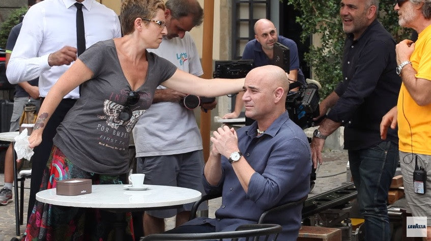 Andre Agassi Is Back - With Lavazza