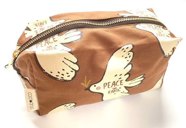 Large canvas Pencil Case bird