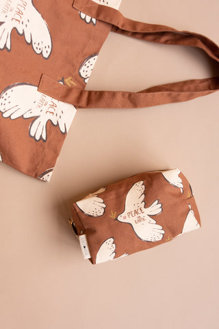 Totebag brown peacebird